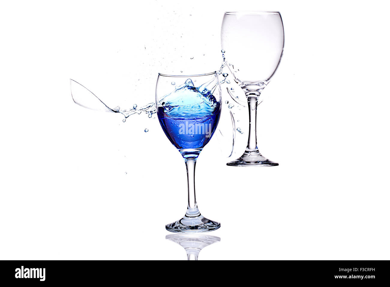 Smashing Wine Glasses - Stock Image