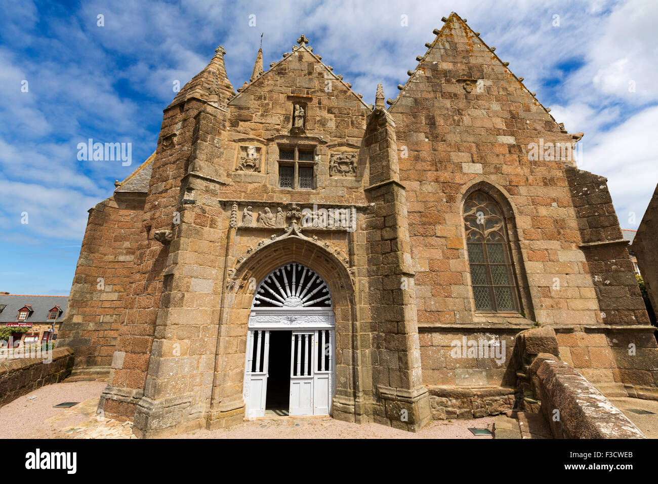 Chapelle Notre Dame de la Clarte at Perros Guirec French Brittany France Europe - Stock Image