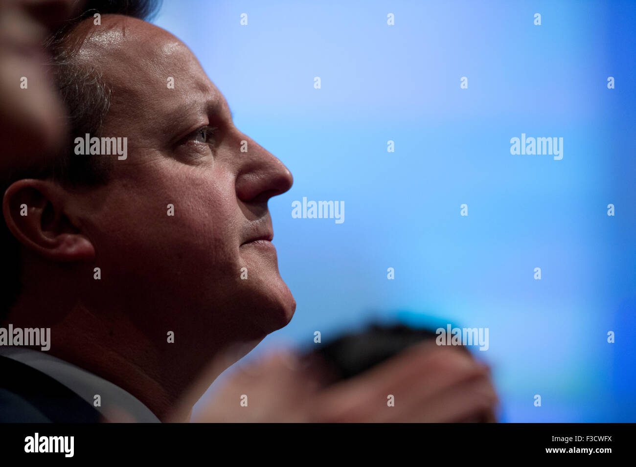 Manchester, UK. 5th October 2015. The Rt Hon David Cameron MP, Prime Minister, First Lord of the Treasury, Minister - Stock Image