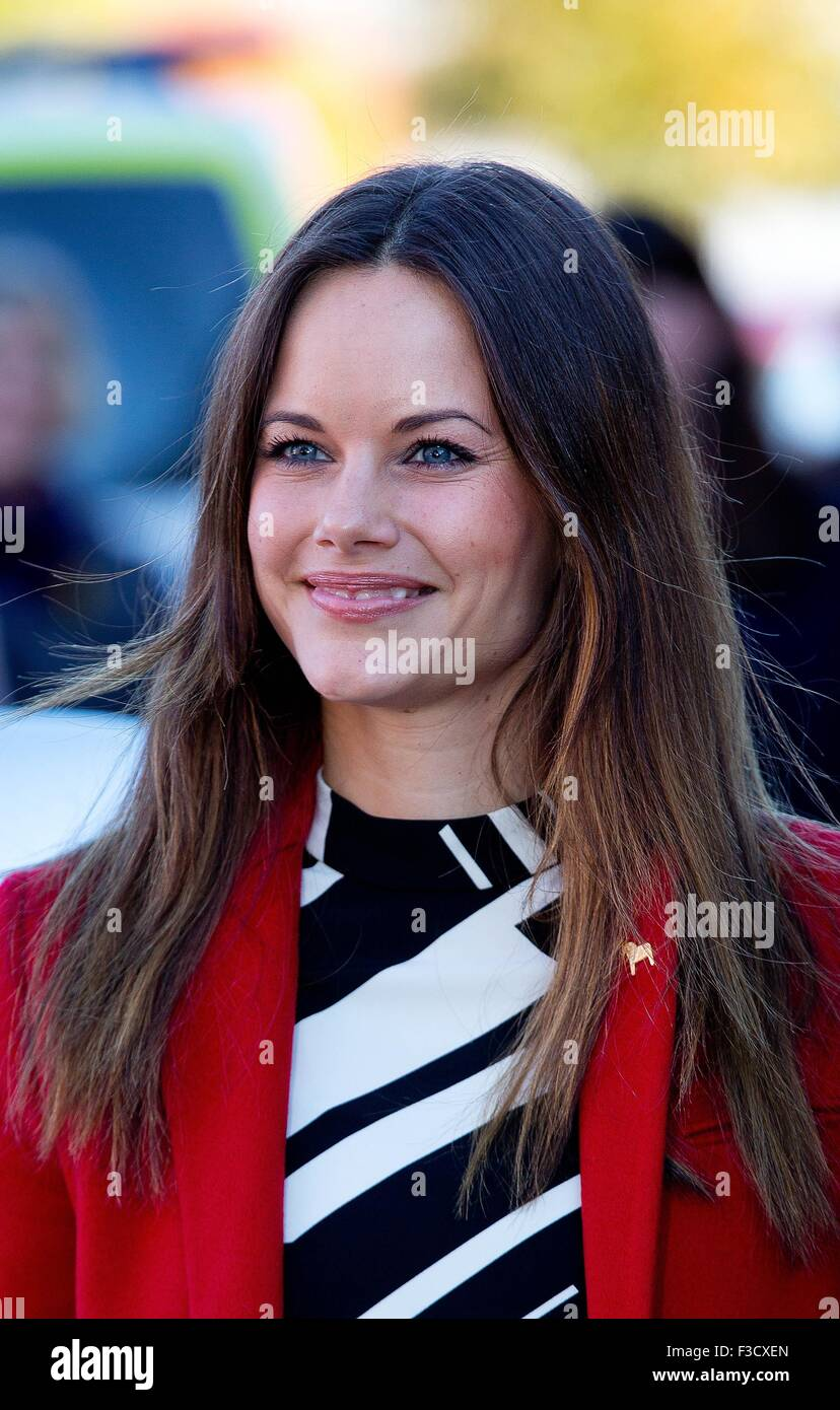 Dalarna, Sweden. 5th October, 2015. HRH Princess Sofia Visit to the company Dalform AB in Säter First day of - Stock Image