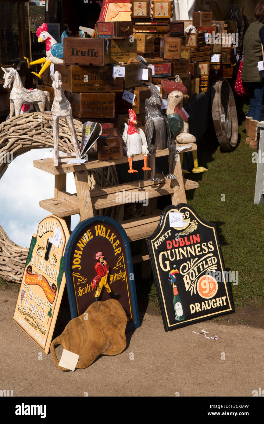 UK, England, Lincolnshire, Lincoln, Antiques Fair, stall stocked with reproduction items - Stock Image