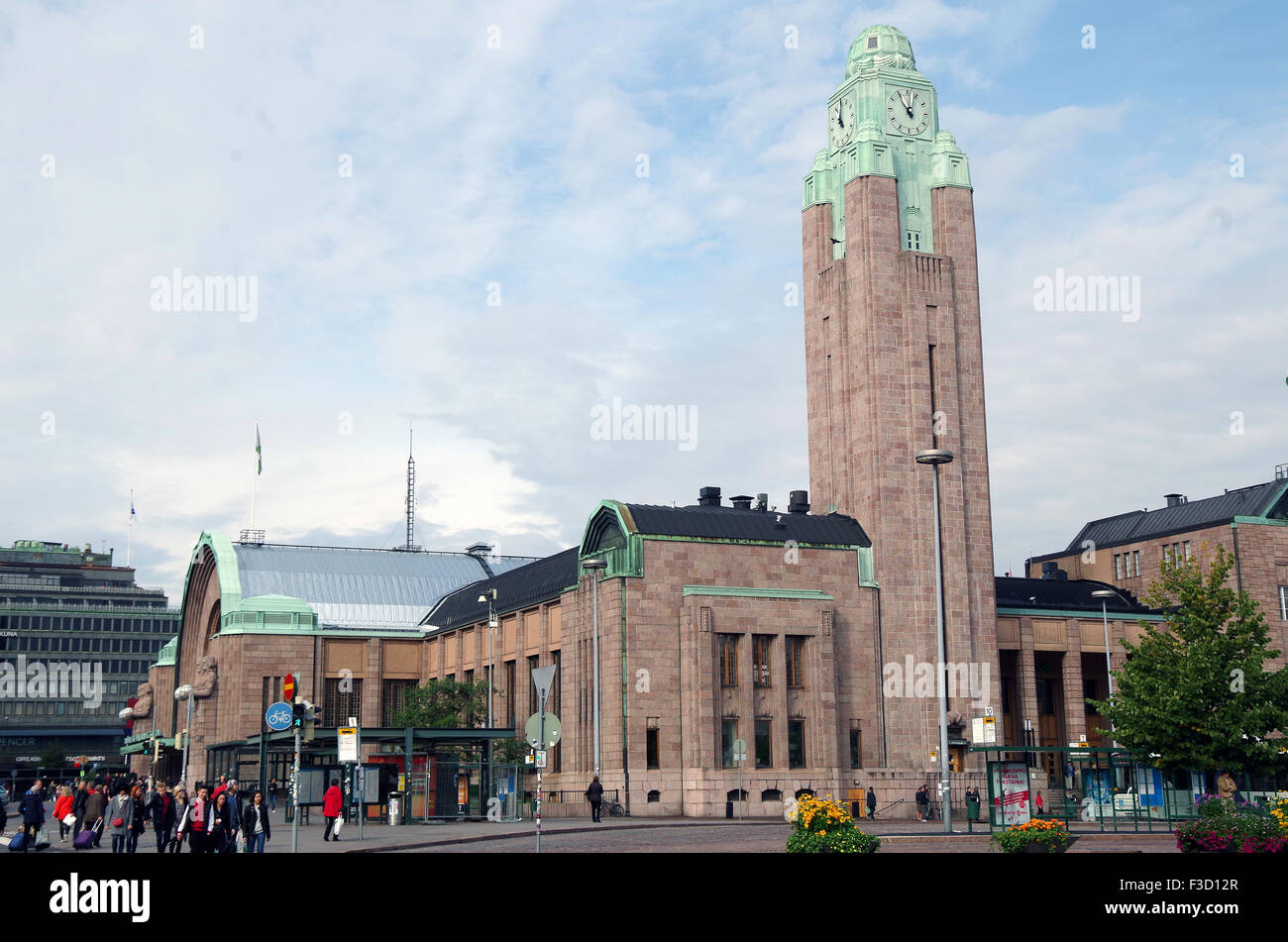 Helsinki, Finland, Central main railway station - Stock Image