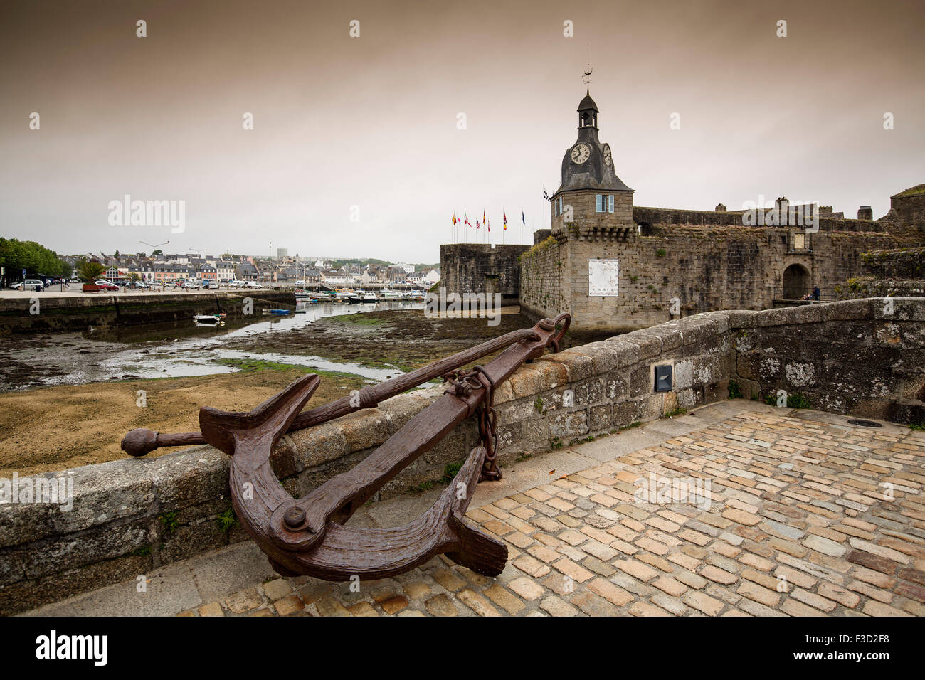 Concarneau Ville Close Finisterre French Brittany France Europe - Stock Image