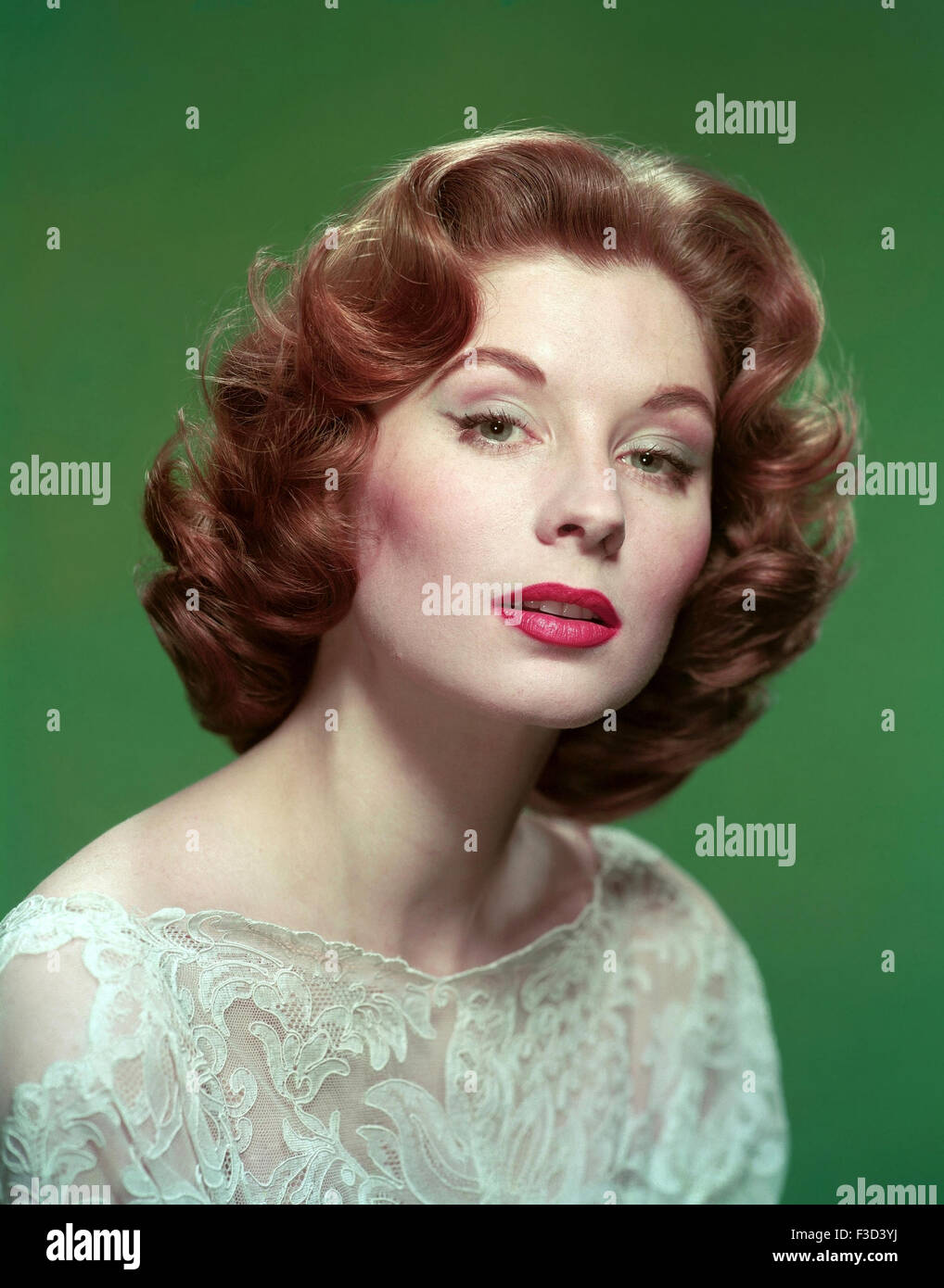 SUZY PARKER (1932-2003) US model and film actress in 1958 - Stock Image