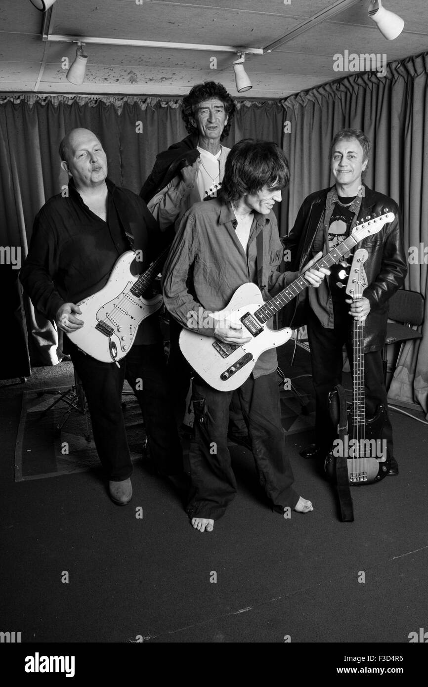 The Only Ones ,British rock band photographed in their rehearsal studios after reforming in 2007, London, England, - Stock Image