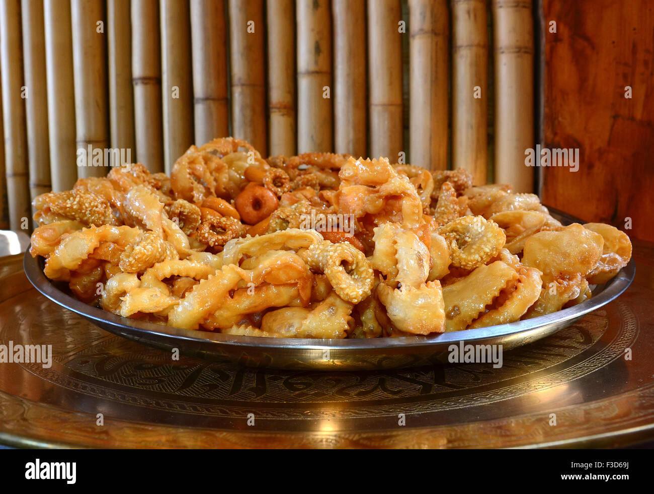 North African sweet pastries - Stock Image