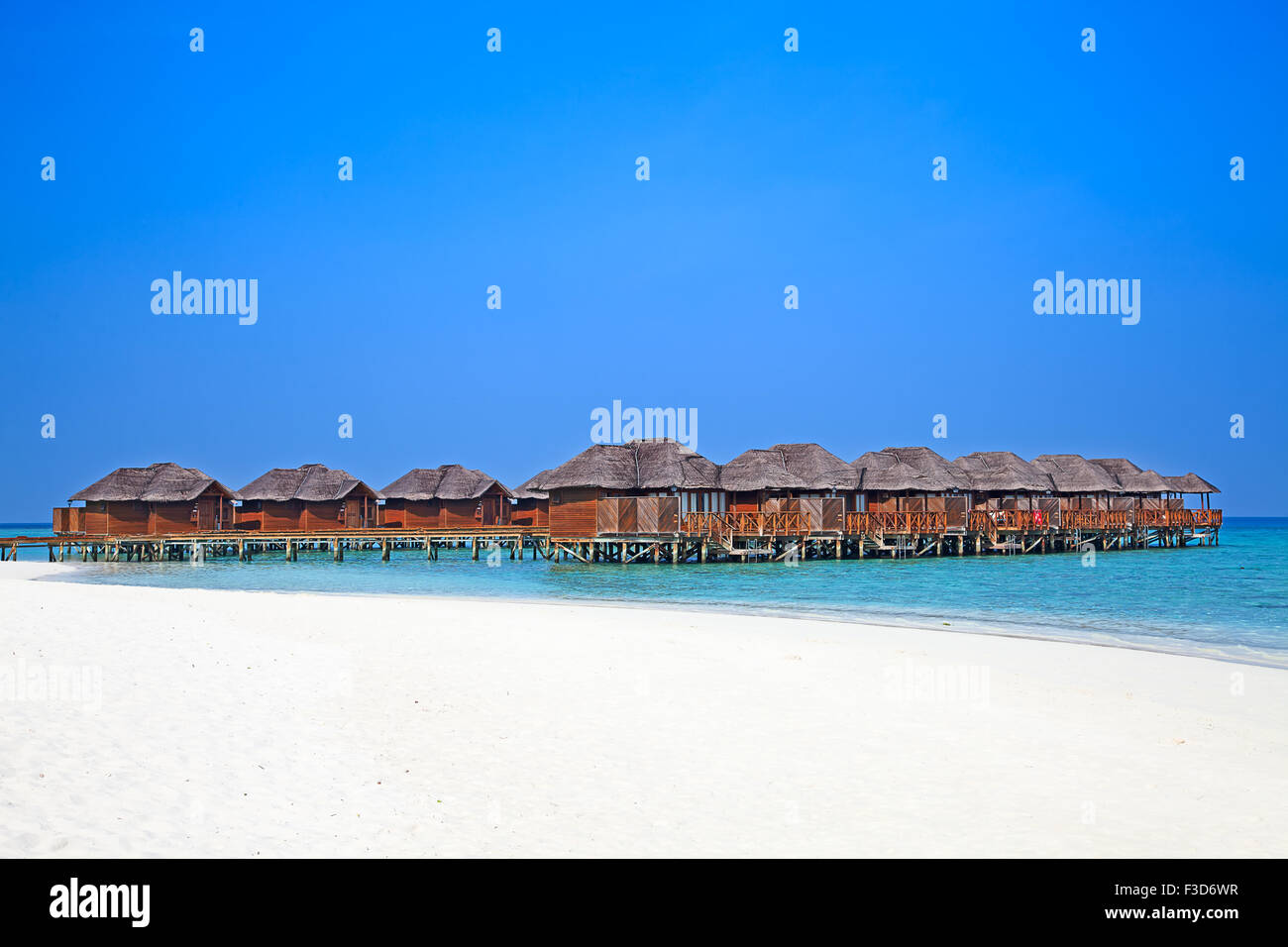 Maldivian island. Paradise in tropics. Stock Photo