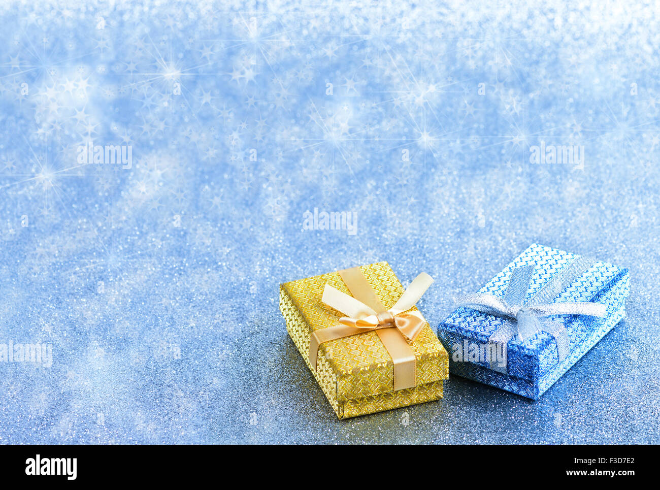 Abstract winter blue christmas holiday background - Stock Image
