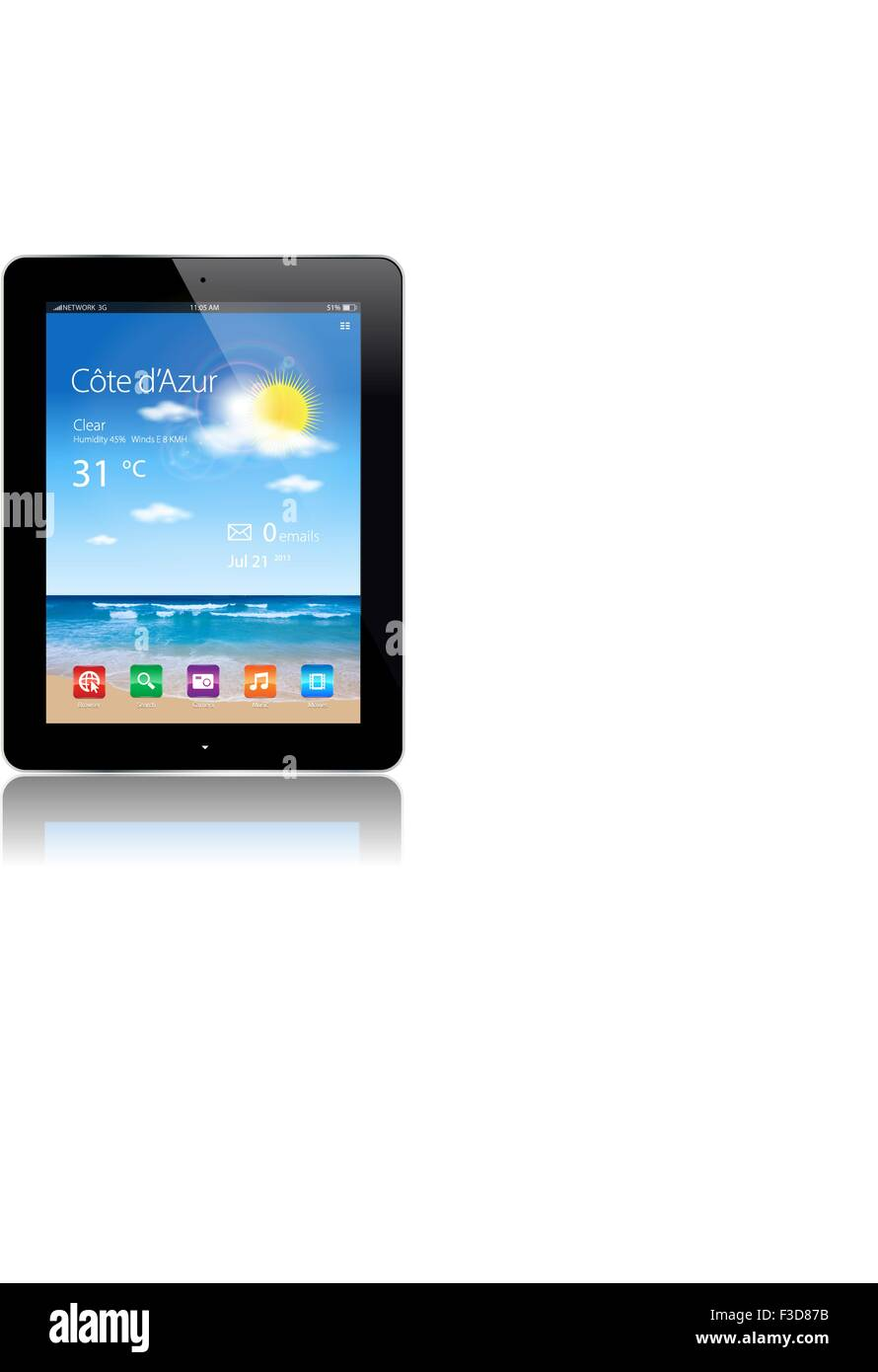 Vector, Tablet, Web, Internet, Gadget, App - Stock Image