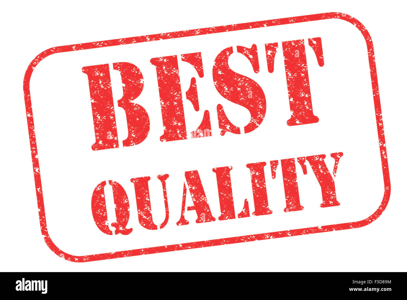 Rubber stamp 'best quality' on white - Stock Image