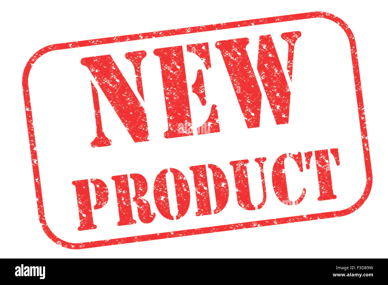 Rubber stamp 'NEW PRODUCT' on white - Stock Image