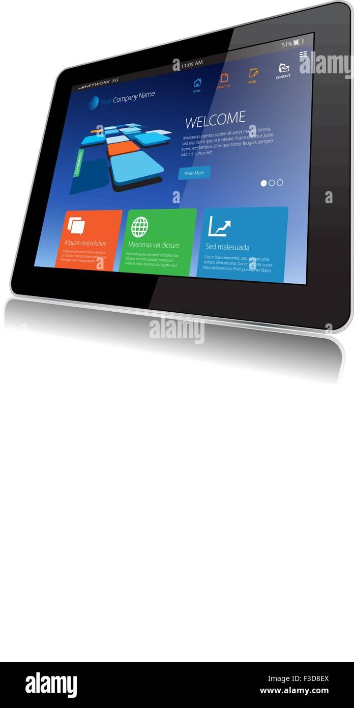 Vector, Tablet, Web, Internet, Web Page, Website - Stock Image