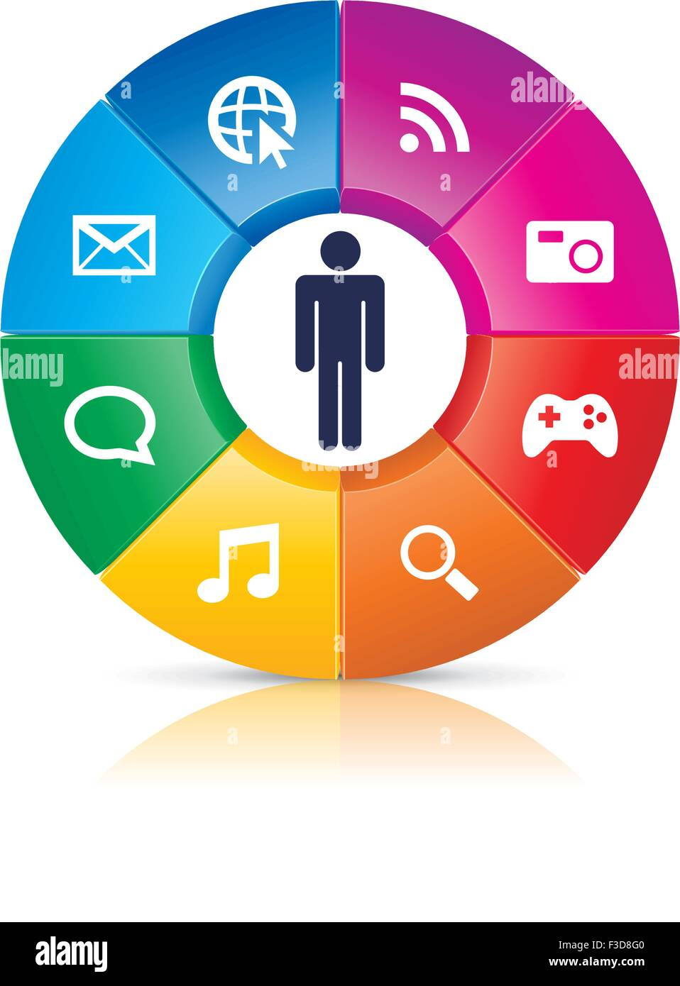 This image is a vector file representing a User Centerd Design concept. - Stock Image