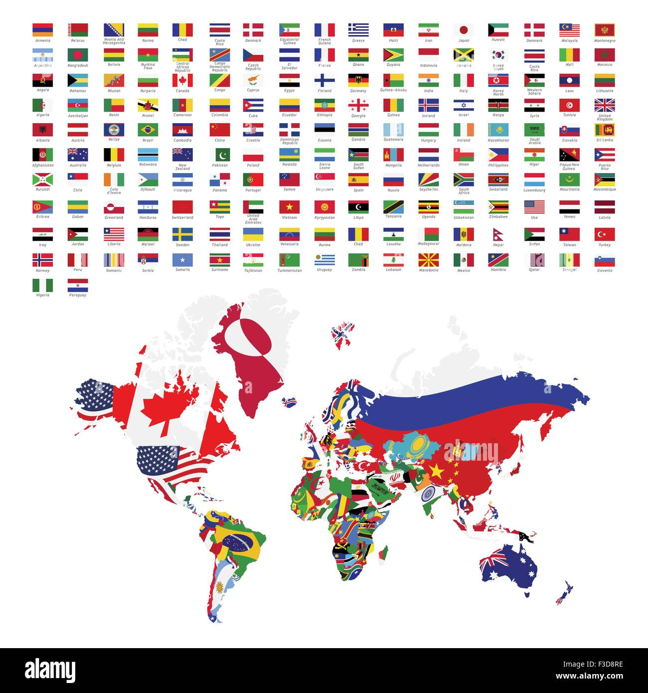 World flags all - Stock Image