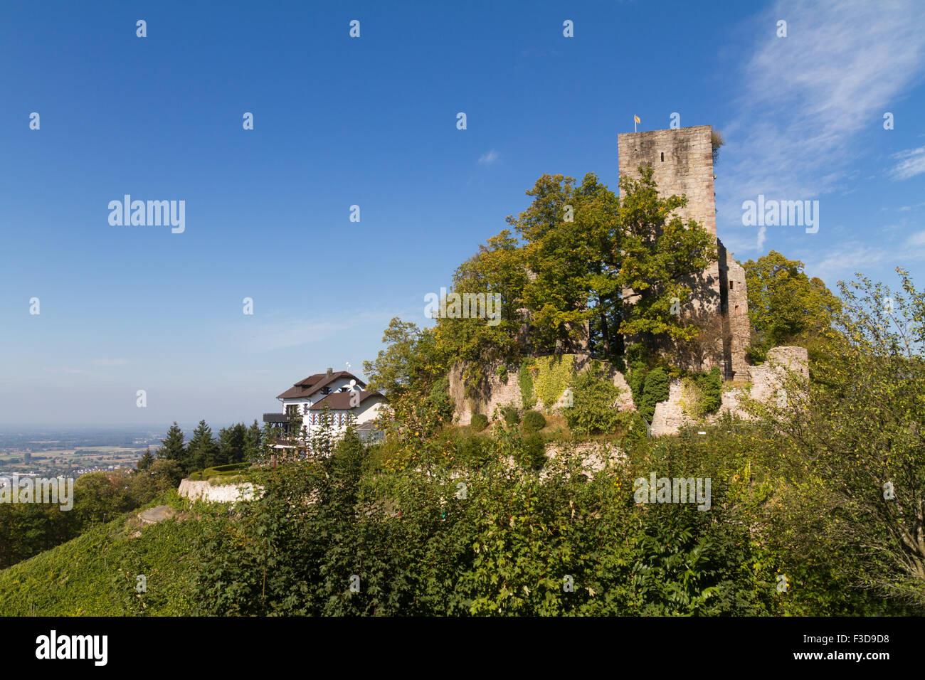 Burgruine Neuwindeck in Buhl, Baden-Wurttemberg, Germany - Stock Image
