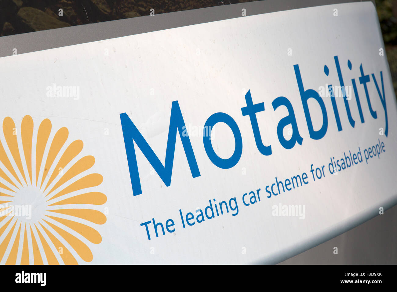 Motability is a scheme in the United Kingdom that enables disabled people, their families and their carers to lease - Stock Image