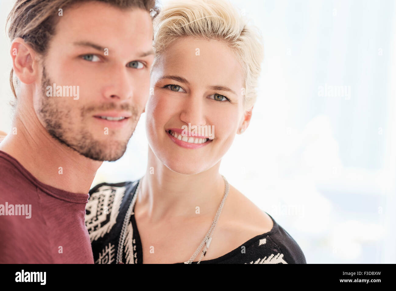Portrait of couple outdoors - Stock Image