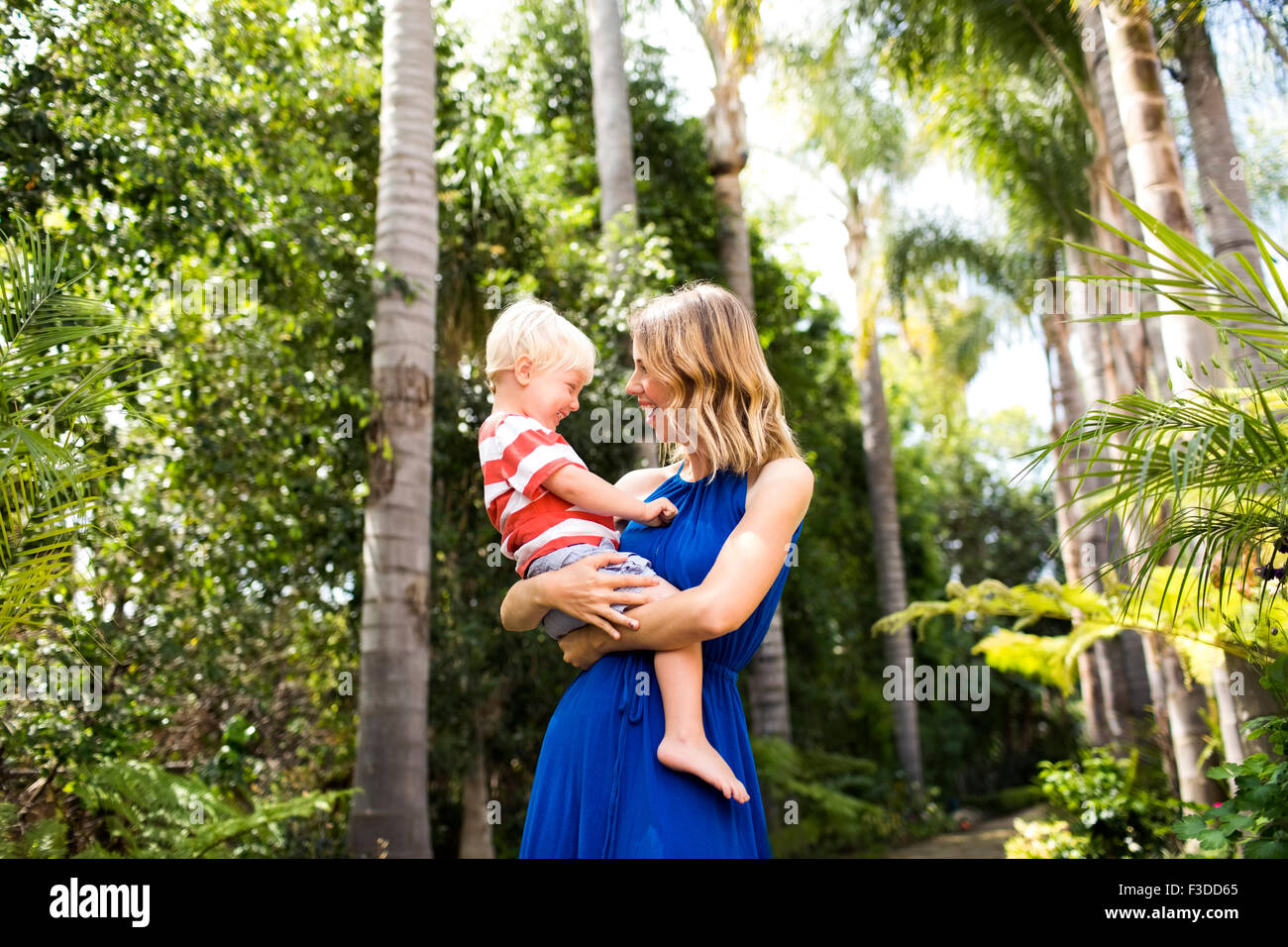 Mother with son (2-3) - Stock Image