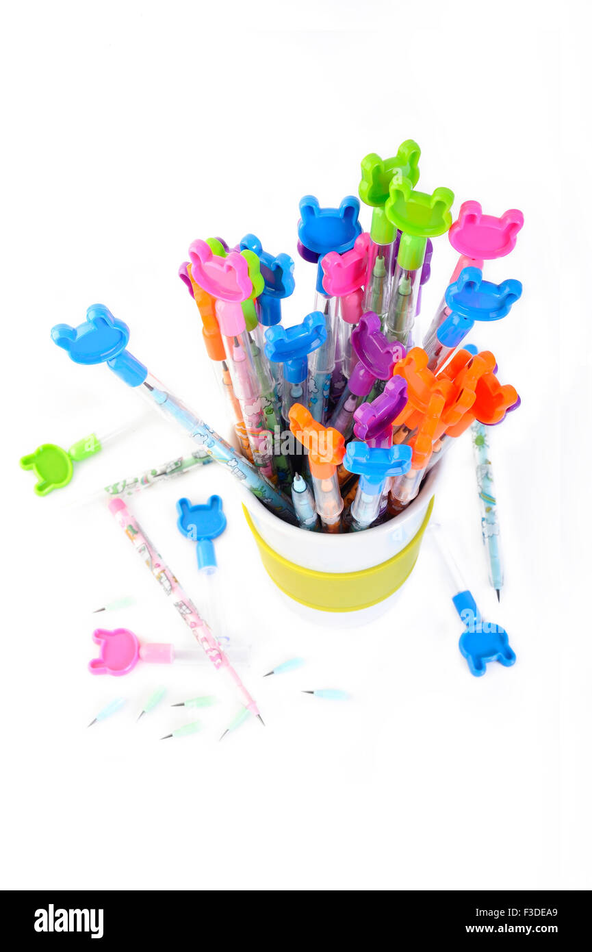 Colored pencils for children - Stock Image