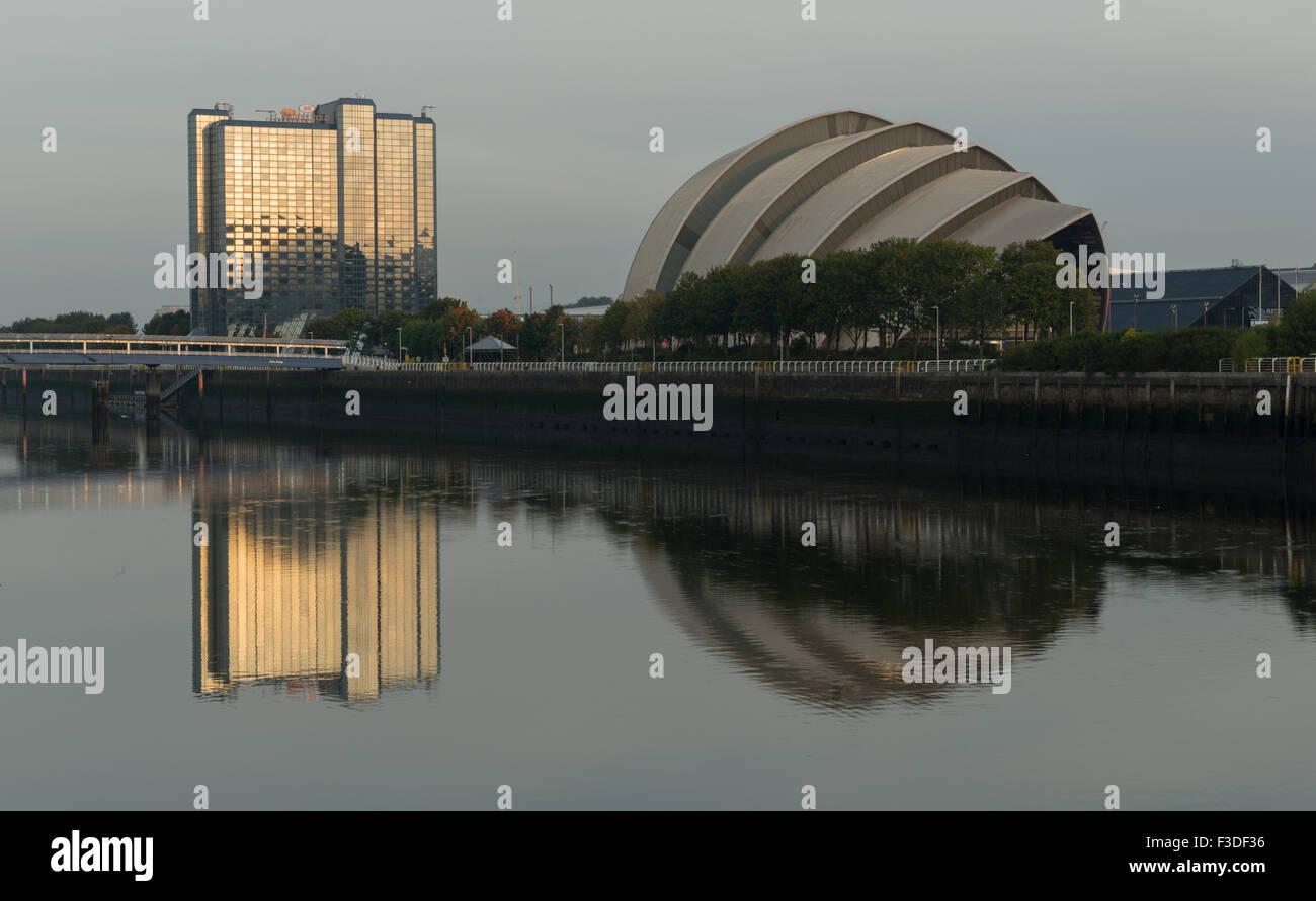 Clyde auditorium and Crowne Plaza hotel,Finnieston, Glasgow,Scotland,UK, - Stock Image