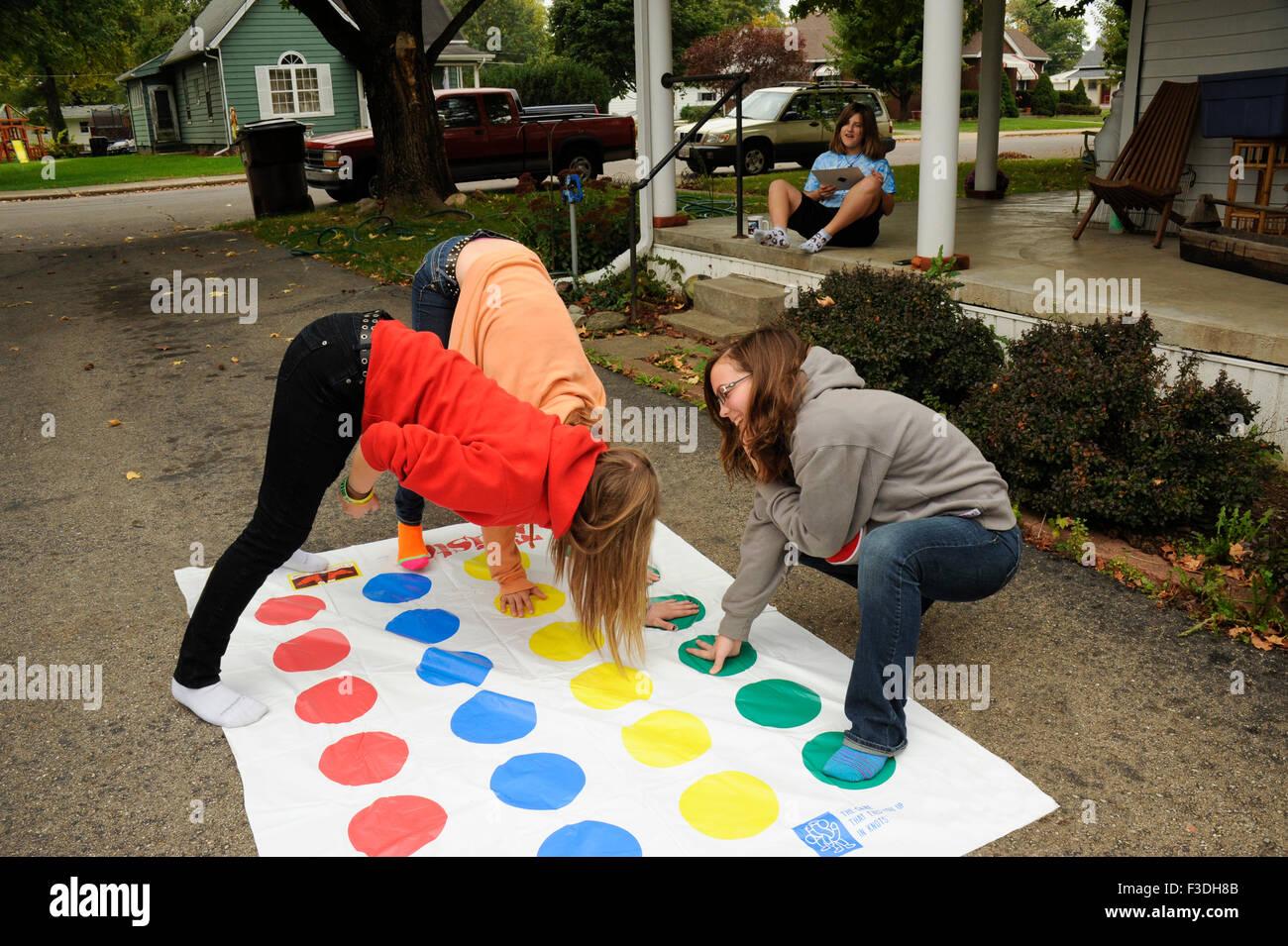 Hot year old girls playing twister #1