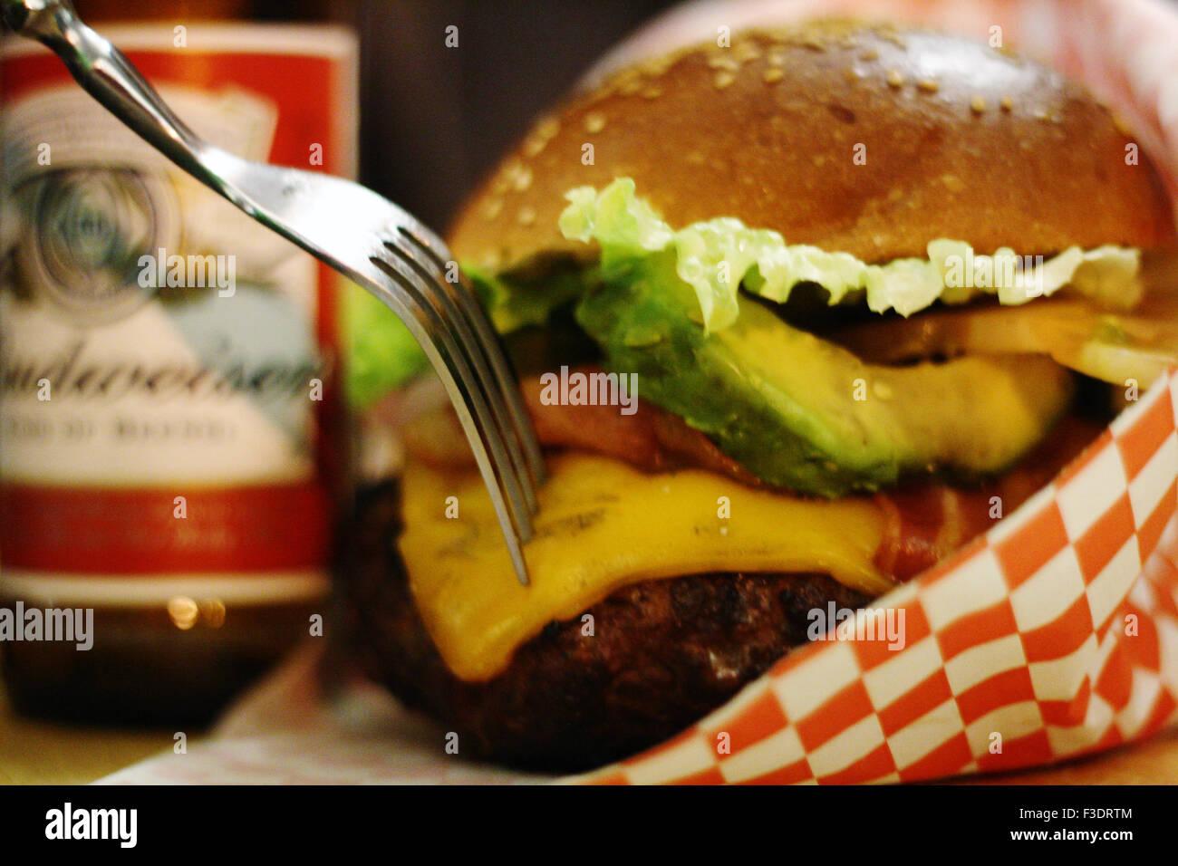 Beef Burger - Stock Image