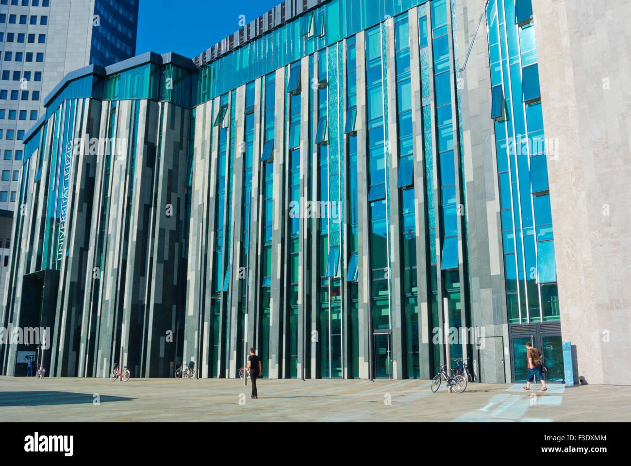Universitat Leipzig University Main Building Augustusplatz Stock Photo Alamy