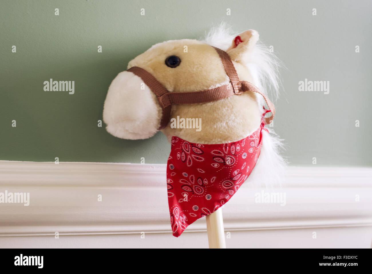 Child's toy hobby horse - Stock Image