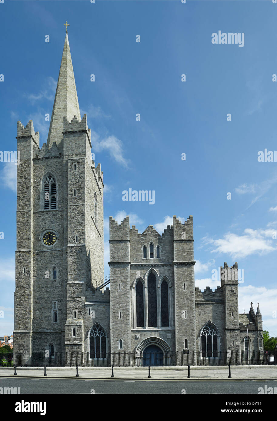 St Patrick's Cathedral Dublin west front - Stock Image
