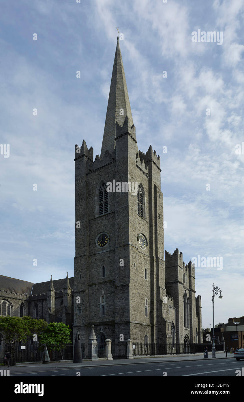 St Patrick's Cathedral Dublin Minot tower - Stock Image