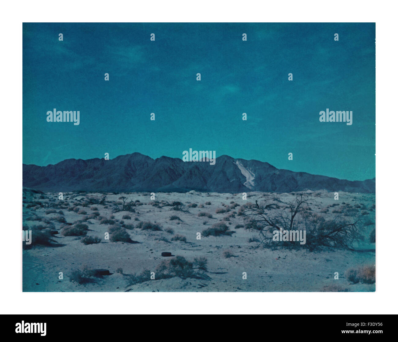Polluted desert - Stock Image