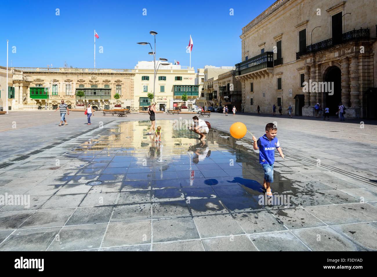 St George's Square, Valletta - Stock Image