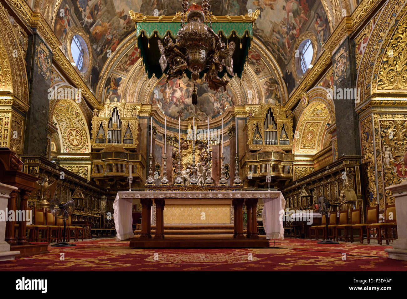 St. John`s Co-Cathedral in Valletta - Stock Image