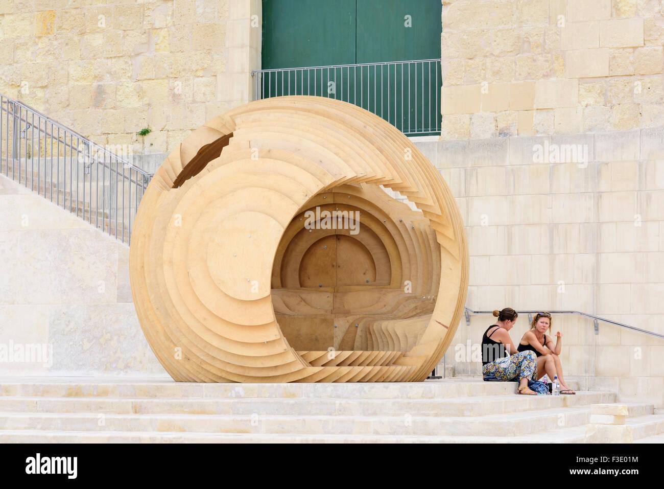 City Gate Valletta - Stock Image