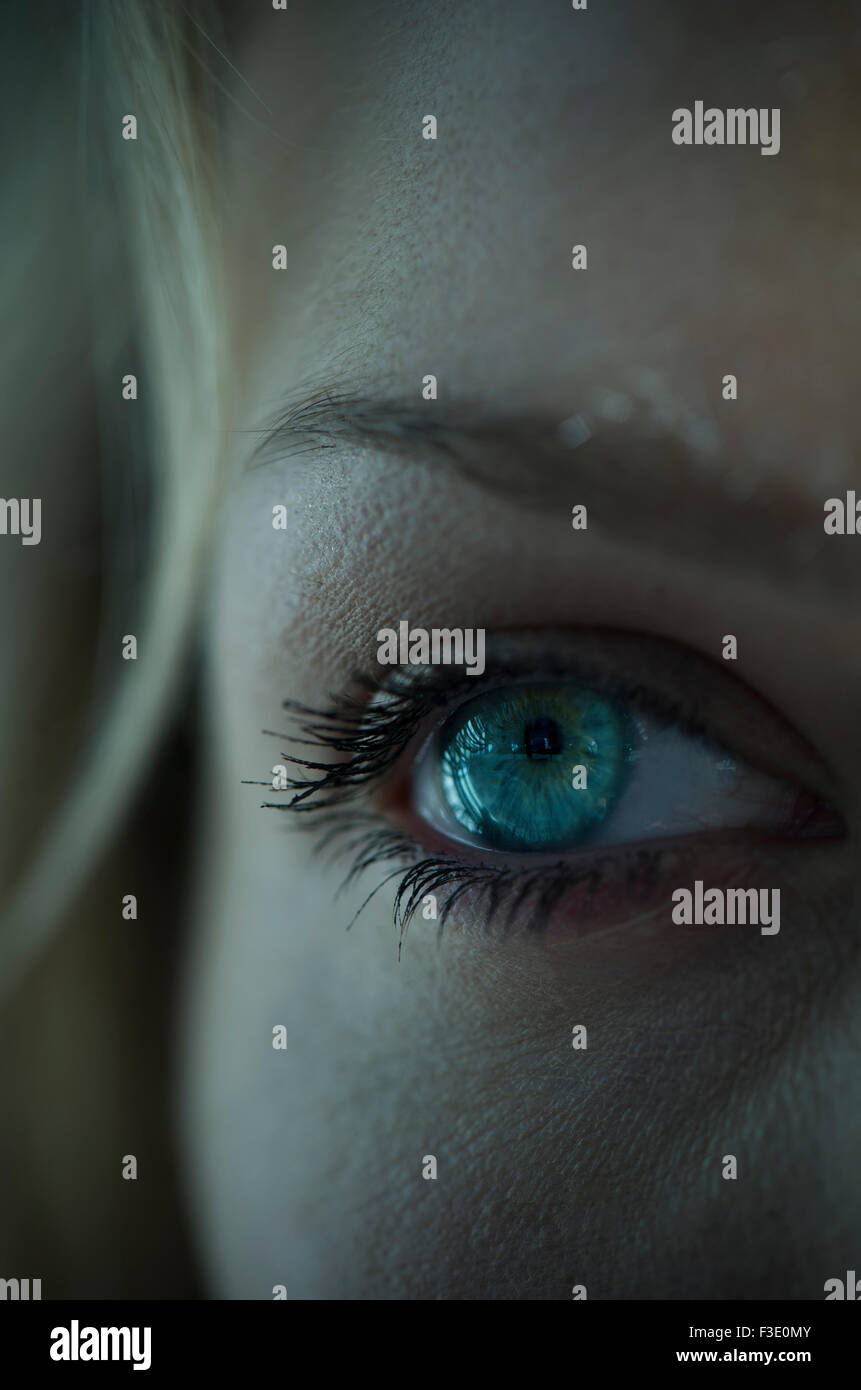 Woman's eye, close-up - Stock Image