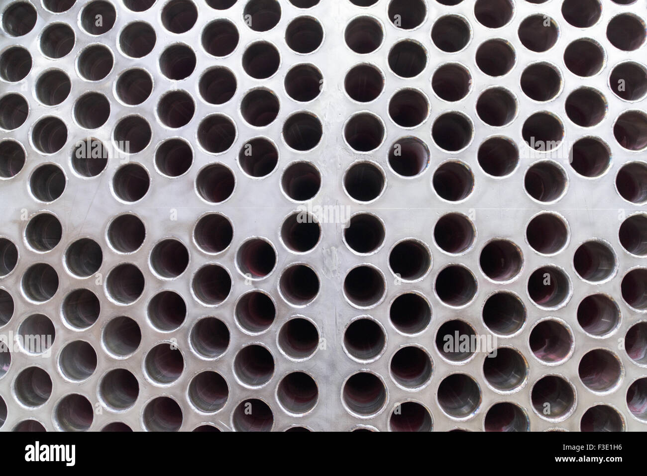 Steel Plate With Rough Surface And Drilled Holes Steel