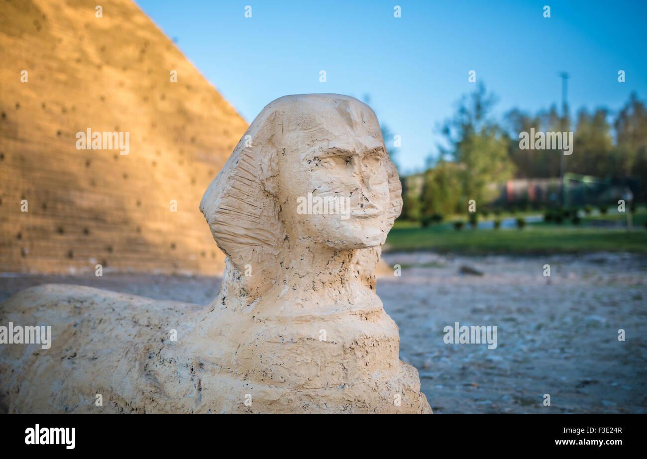 simulation of giza sphinx - Stock Image