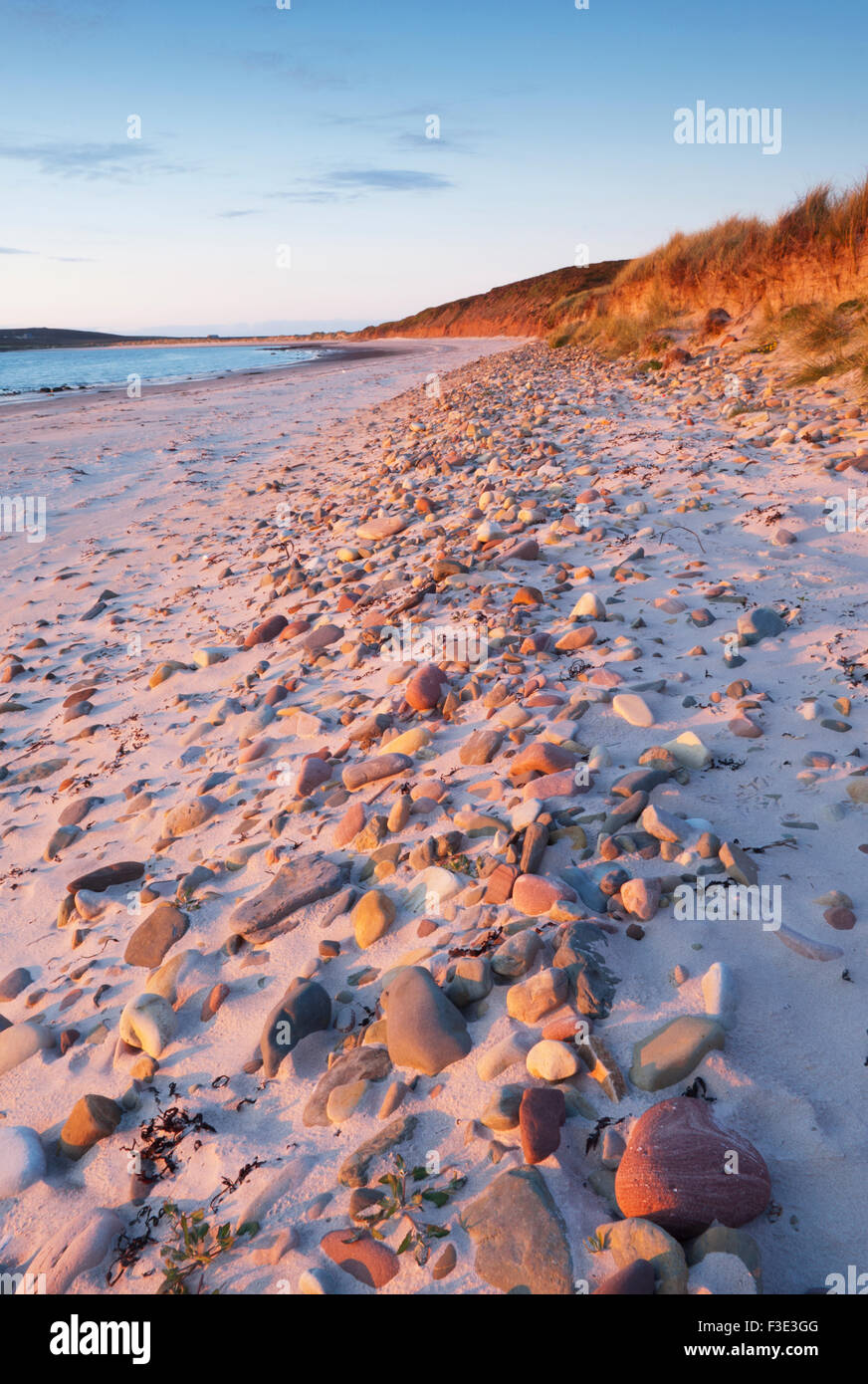 The Sands of Mussetter at sunset on the island of Eday, Orkney Islands, Scotland. Stock Photo