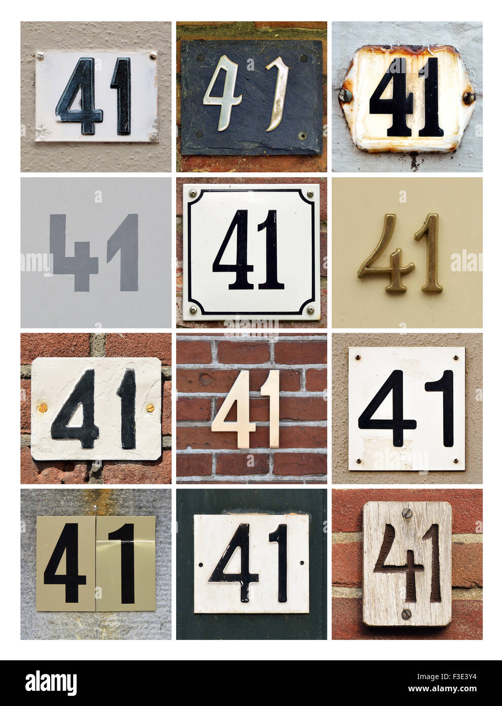 House Collage Numbers Stock 41 Of One Photo88206248 Forty Number 8OnvNmyw0