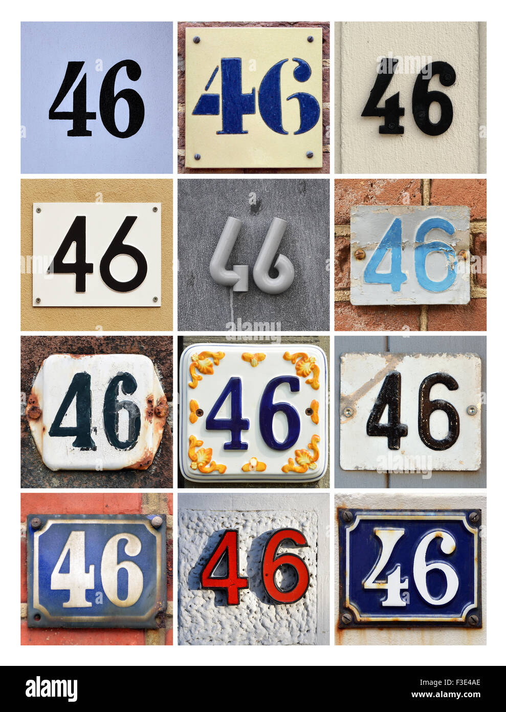 Number 46 - Stock Image