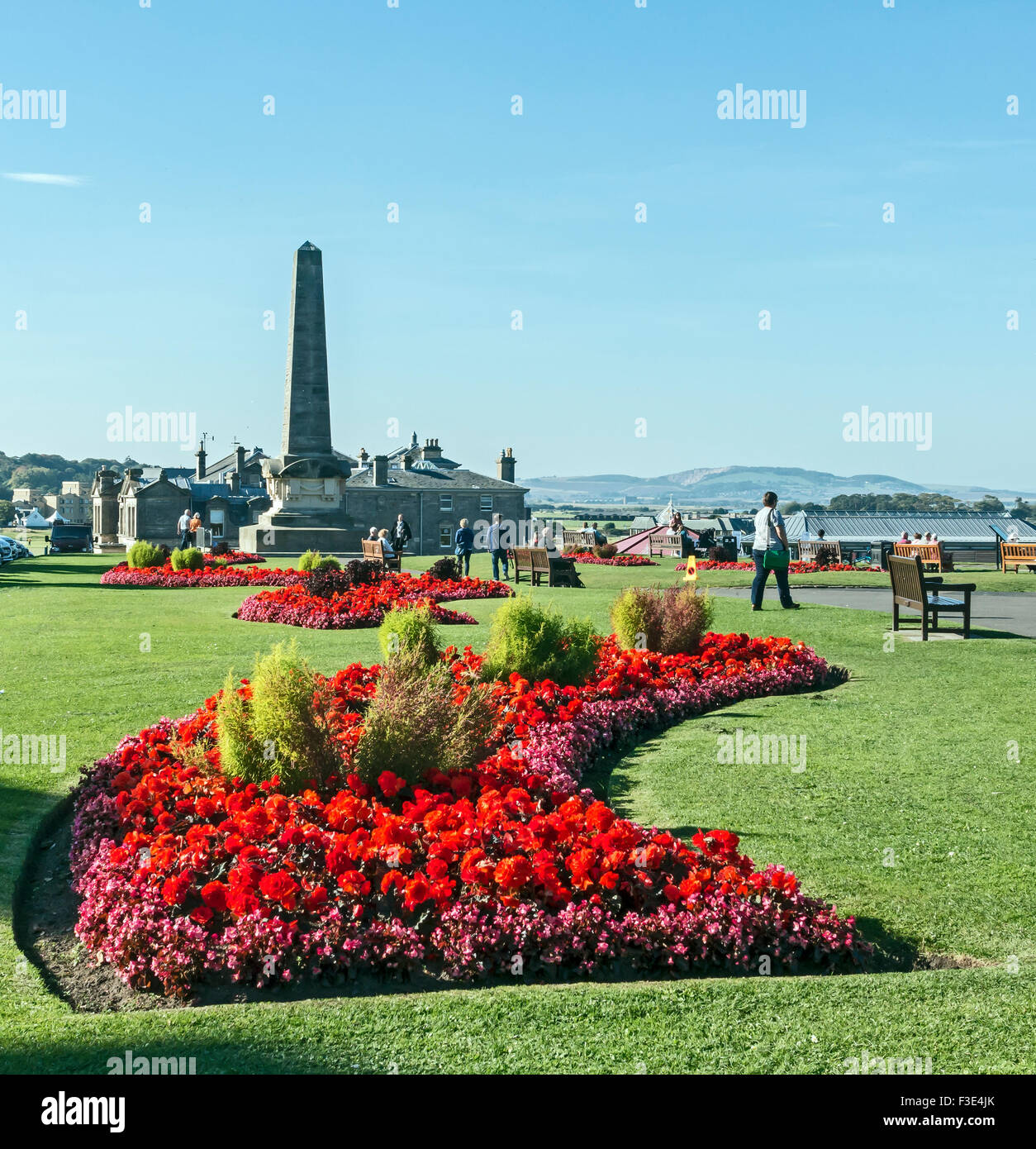 Memorial to protestant martyrs burnt by fire for their faith in St. Andrews Fife Scotland during the seventeenth - Stock Image