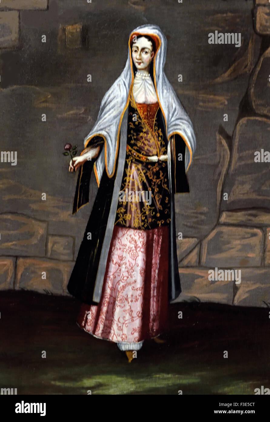 Mykonos Lady Greece Greek Jean Baptiste Vanmour (Van Mour) 1671-1737