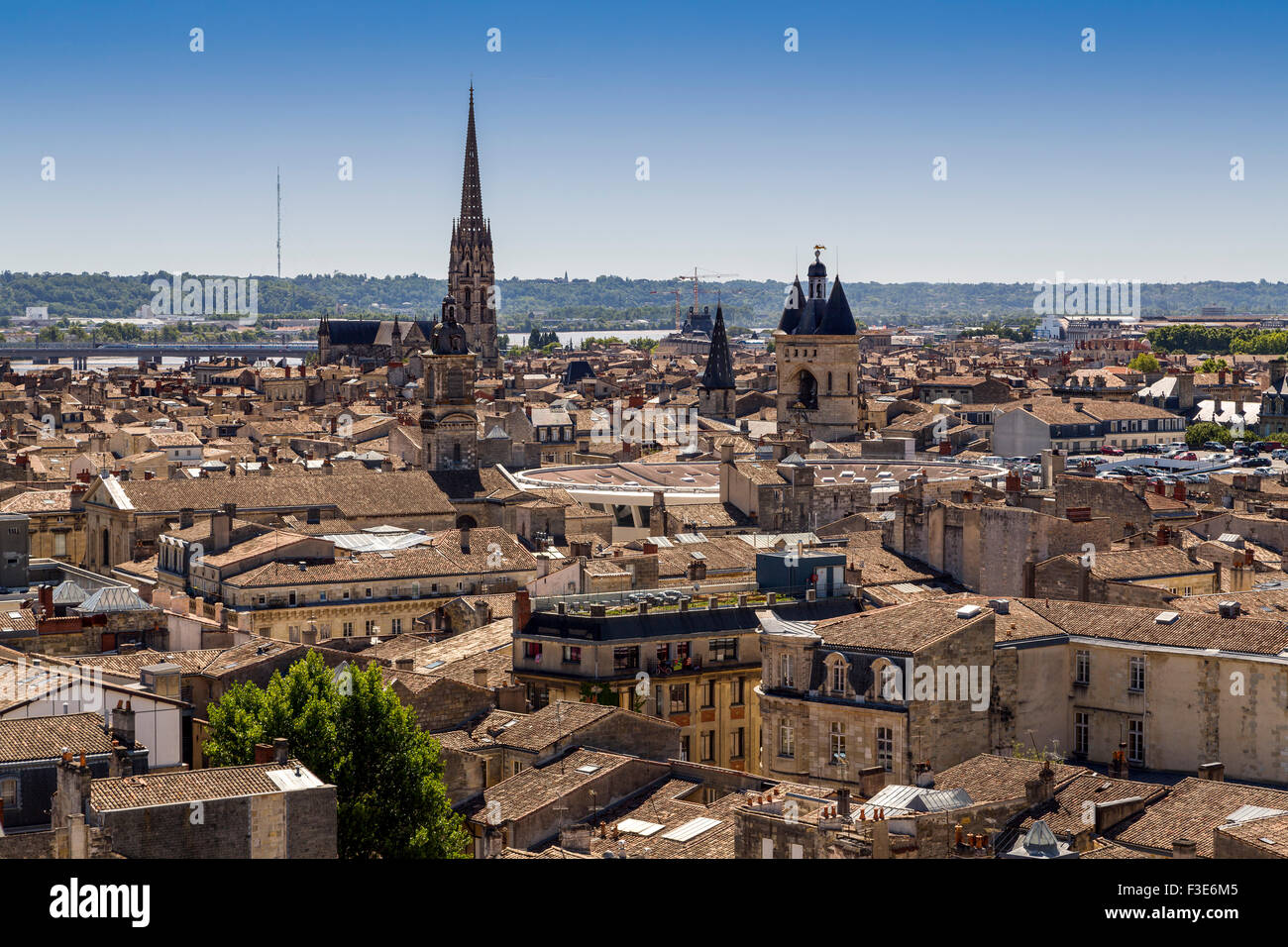Panoramic view Bordeaux Gironde Aquitaine France Europe - Stock Image