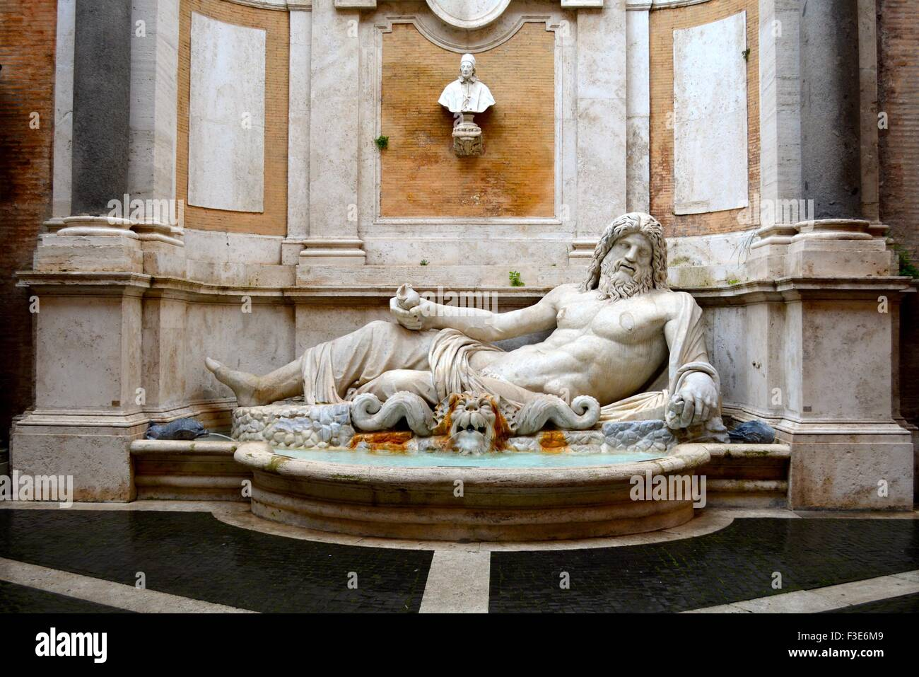 Ancient statue of Neptune in the Capitoline museum, Rome, Italy - Stock Image