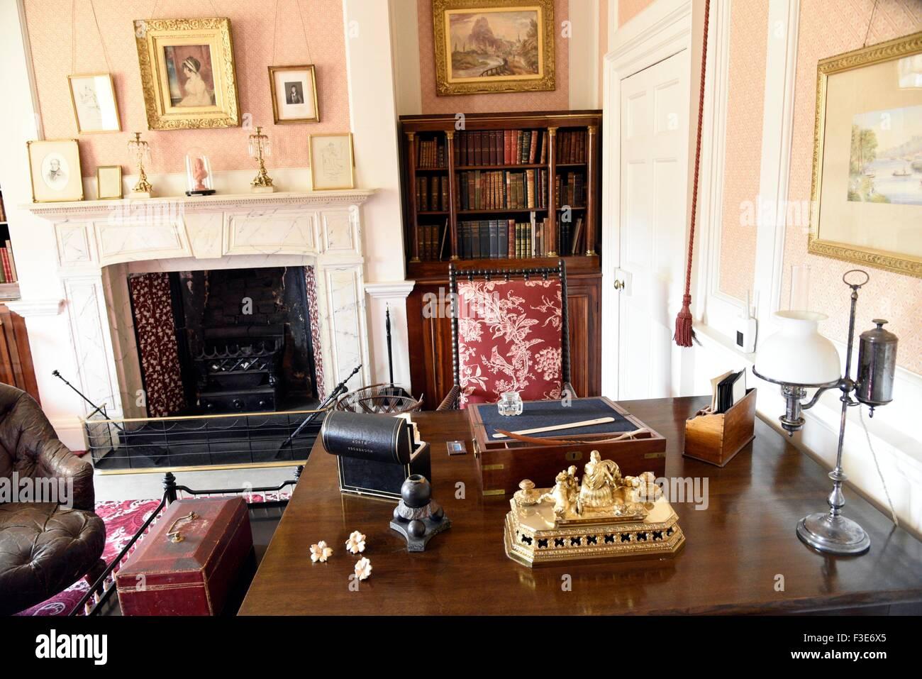 Hughenden, High Wycombe Bucks UK. Country home of the Victorian statesman Benjamin Disraeli, Lord Beaconsfield Buckinghamshire - Stock Image