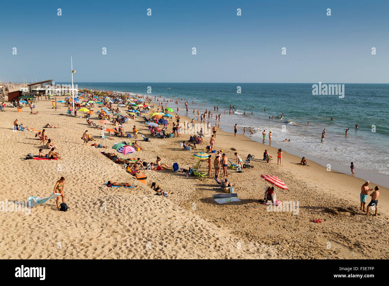 Santa María del Mar beach Cadiz Andalusia Spain - Stock Image
