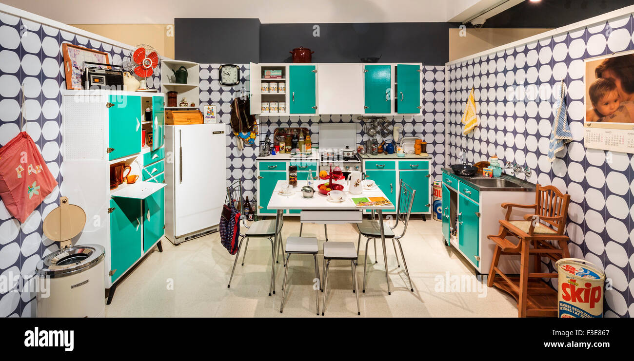 Vintage kitchen 70 years Spain - Stock Image