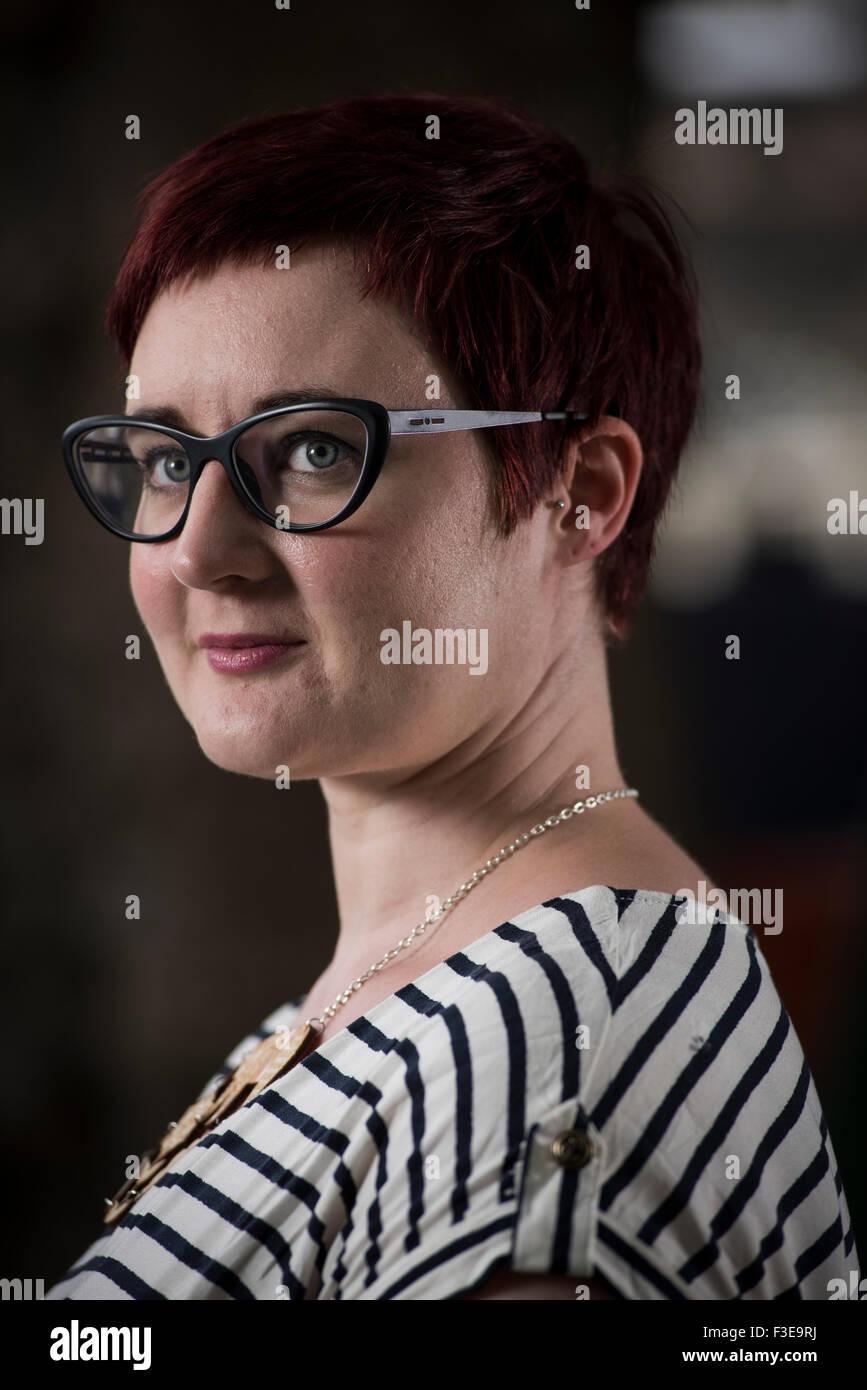 Author Kirsty Logan. - Stock Image