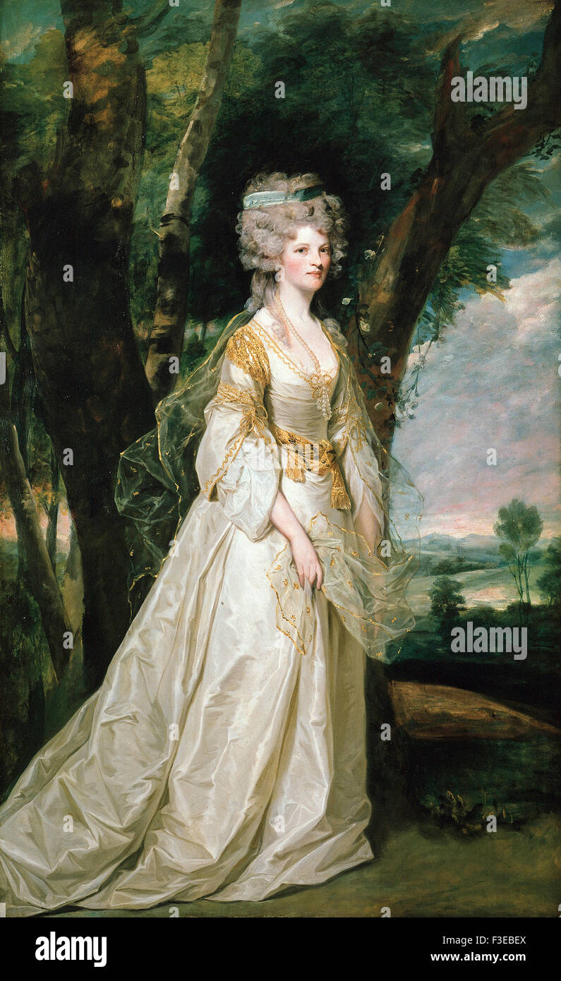Sir Joshua Reynolds - Lady Sunderland - Stock Image