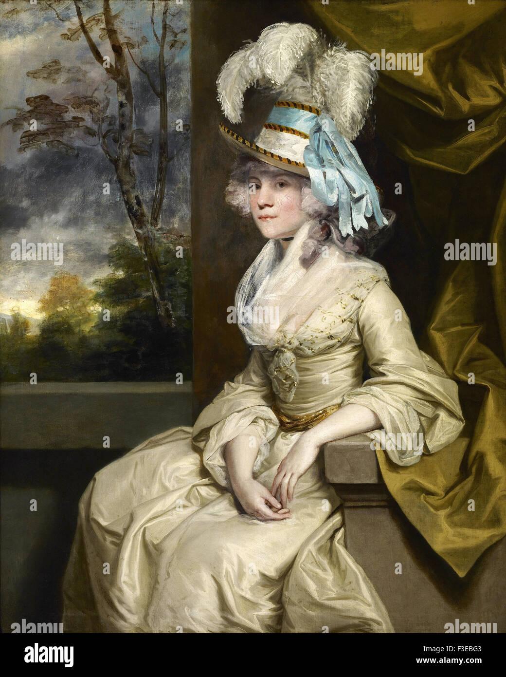 Sir Joshua Reynolds - Elizabeth, Lady Taylor - Stock Image